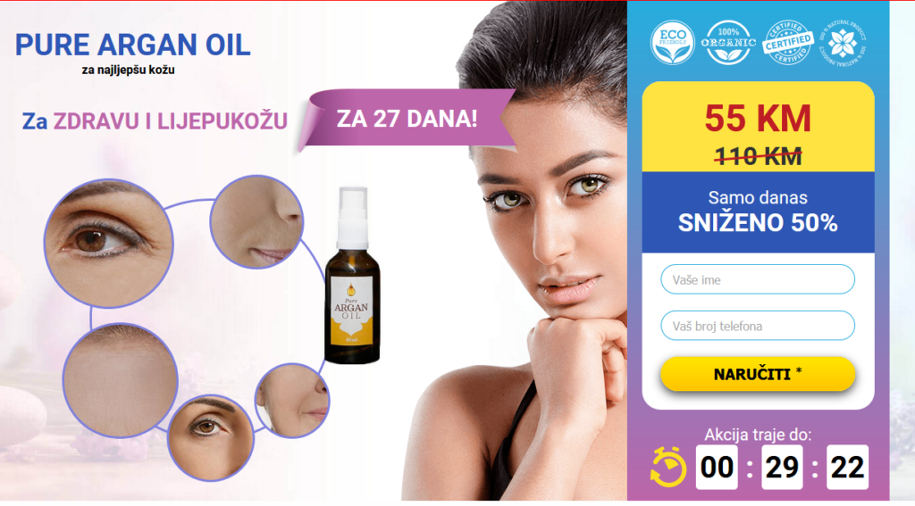 Pure argan oil recenzije