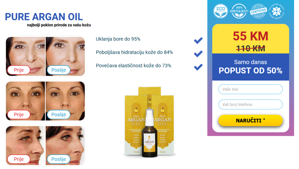Pure argan oil Cena