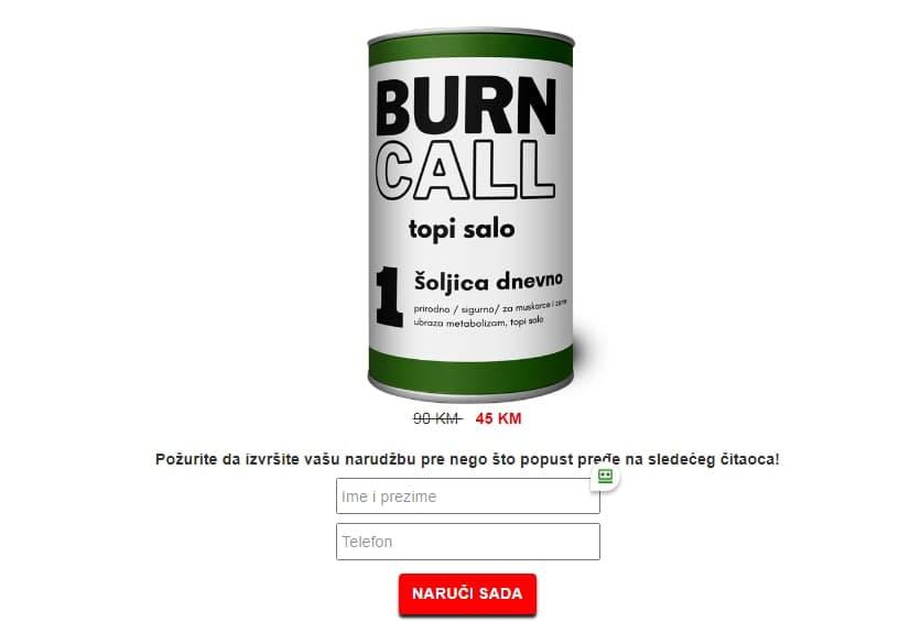 Burn Call tablete