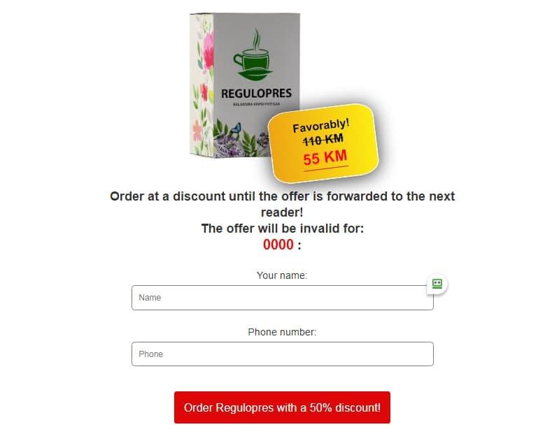 Regulopres čaj Cijena