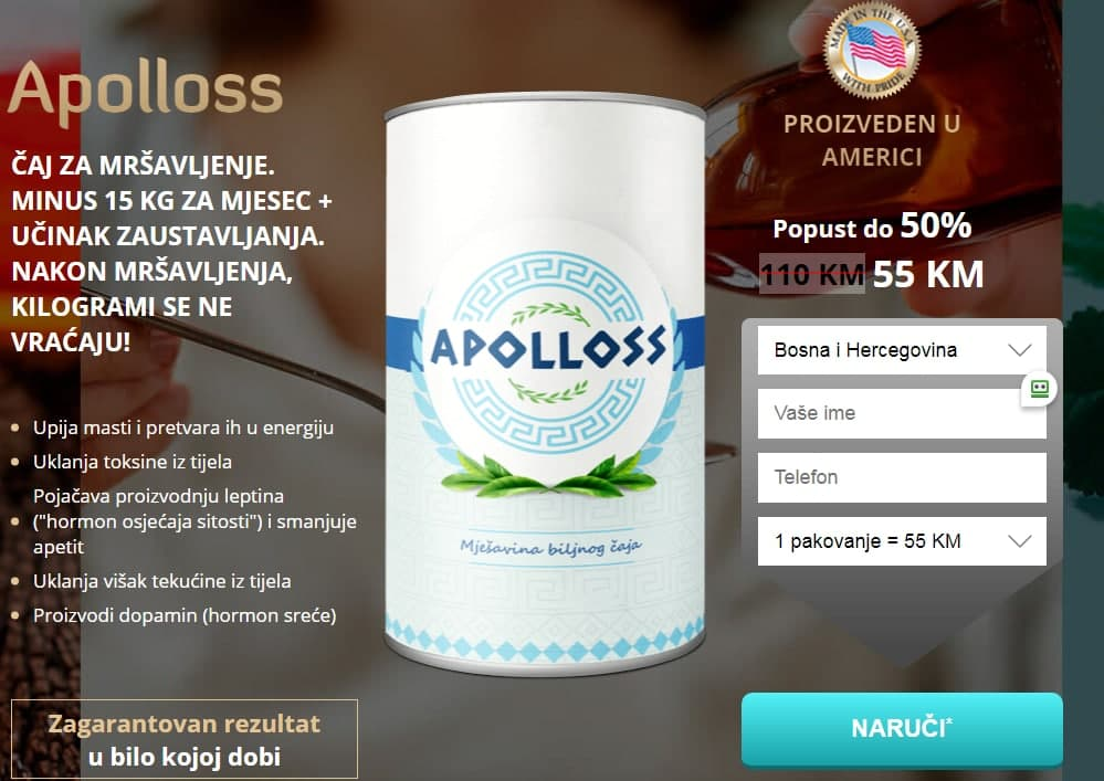 Apolloss čaj Cijena
